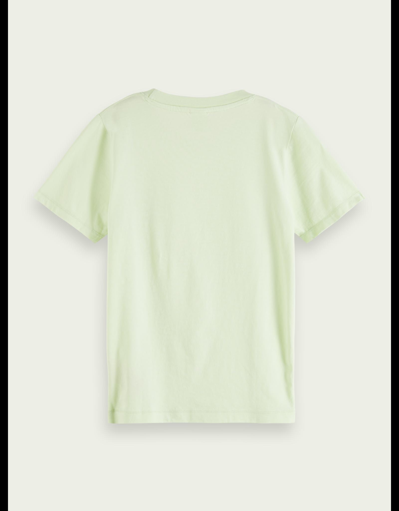 Scotch & Soda S&S t-shirt lime organisch katoen