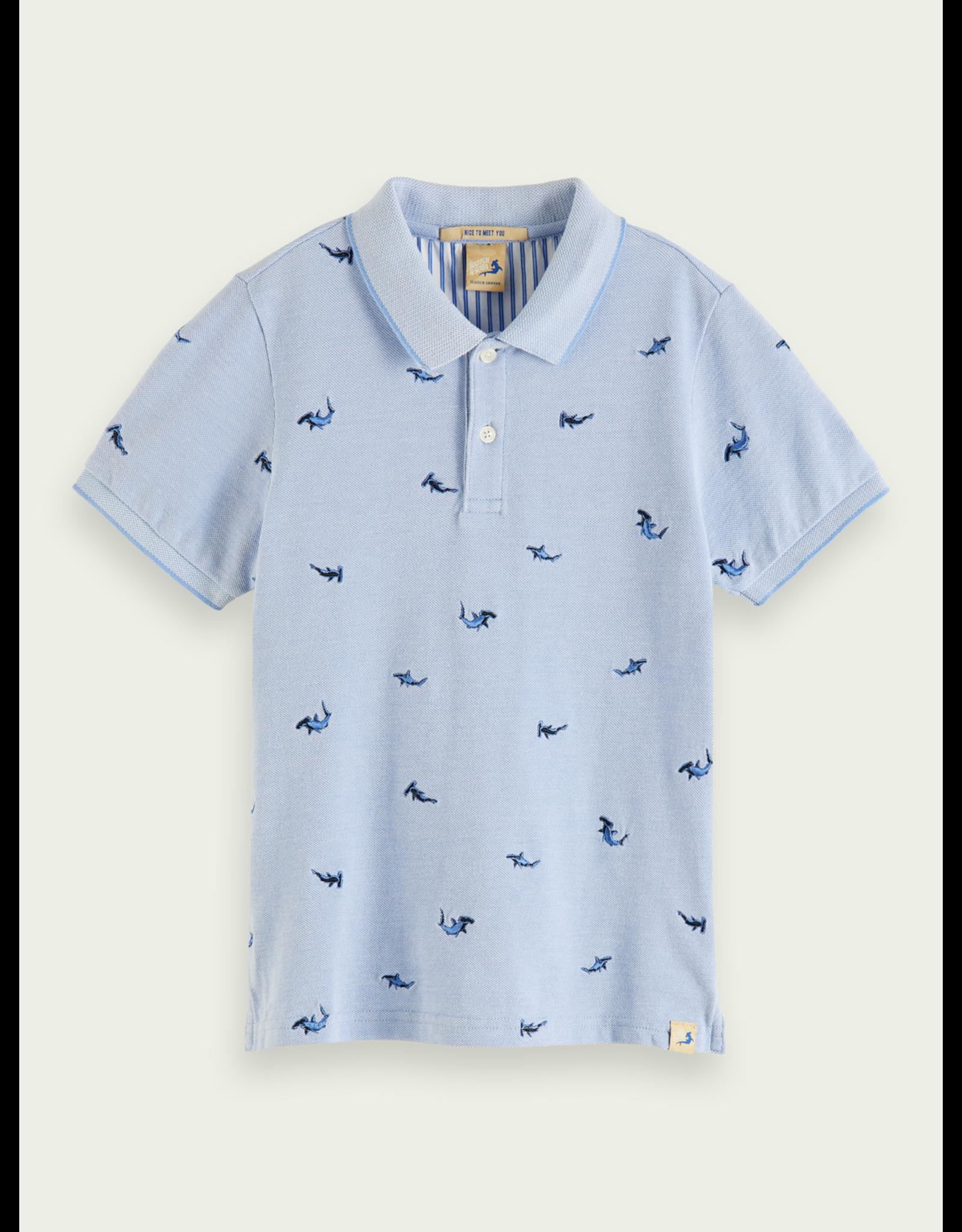 Scotch & Soda S&S polo blauw haaien