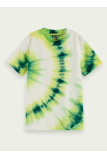 Scotch & Soda S&S t-shirt tie die groen