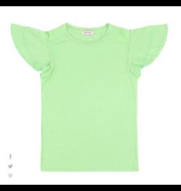 Morley Nevi Borago spring t-shirt ruffle mouw groen