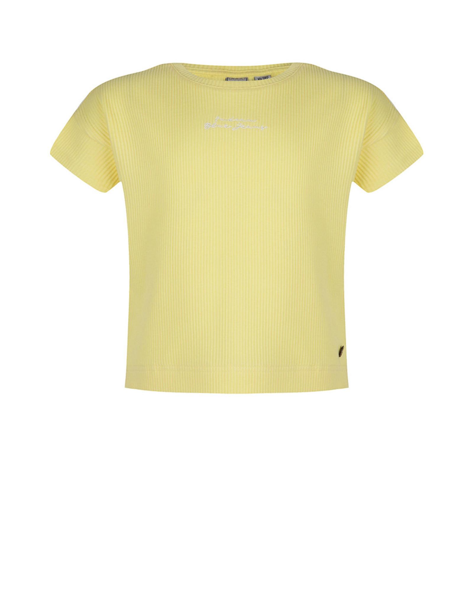 Indian Blue Jeans IBJ crop T-shirt vanilla geel
