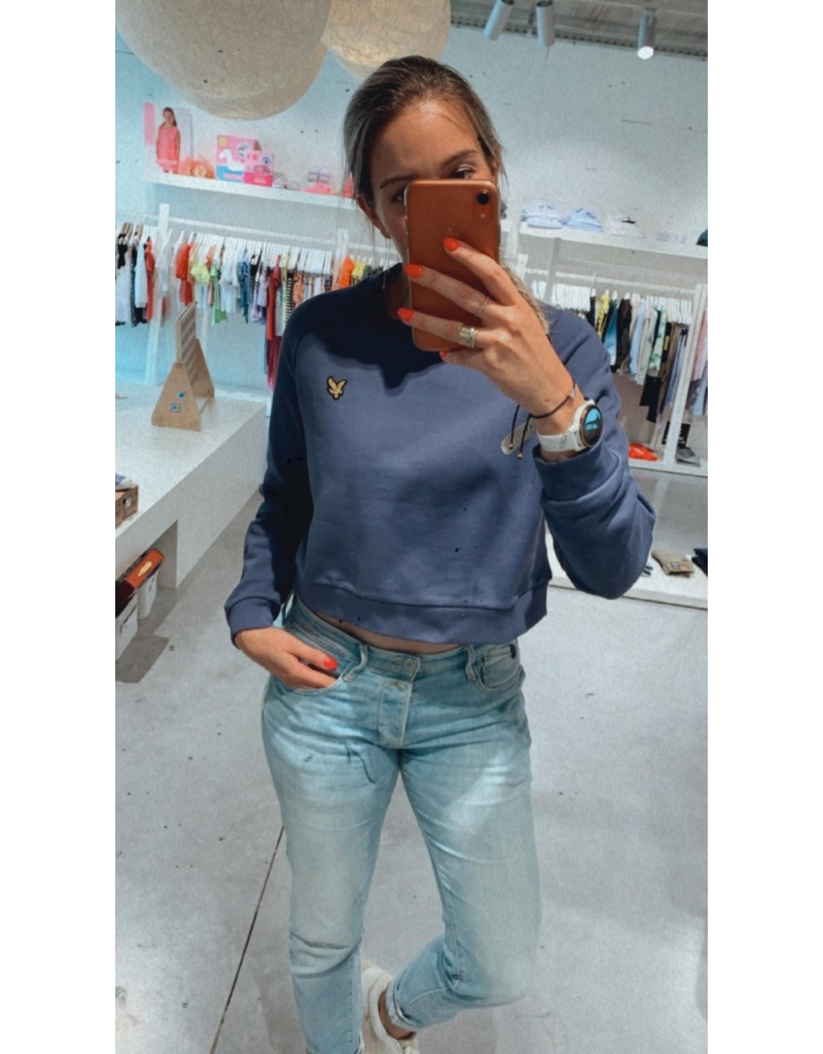 Lyle & Scott Cropped sweater nightshade blue