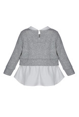 Lapin House Grijze pull met blouse