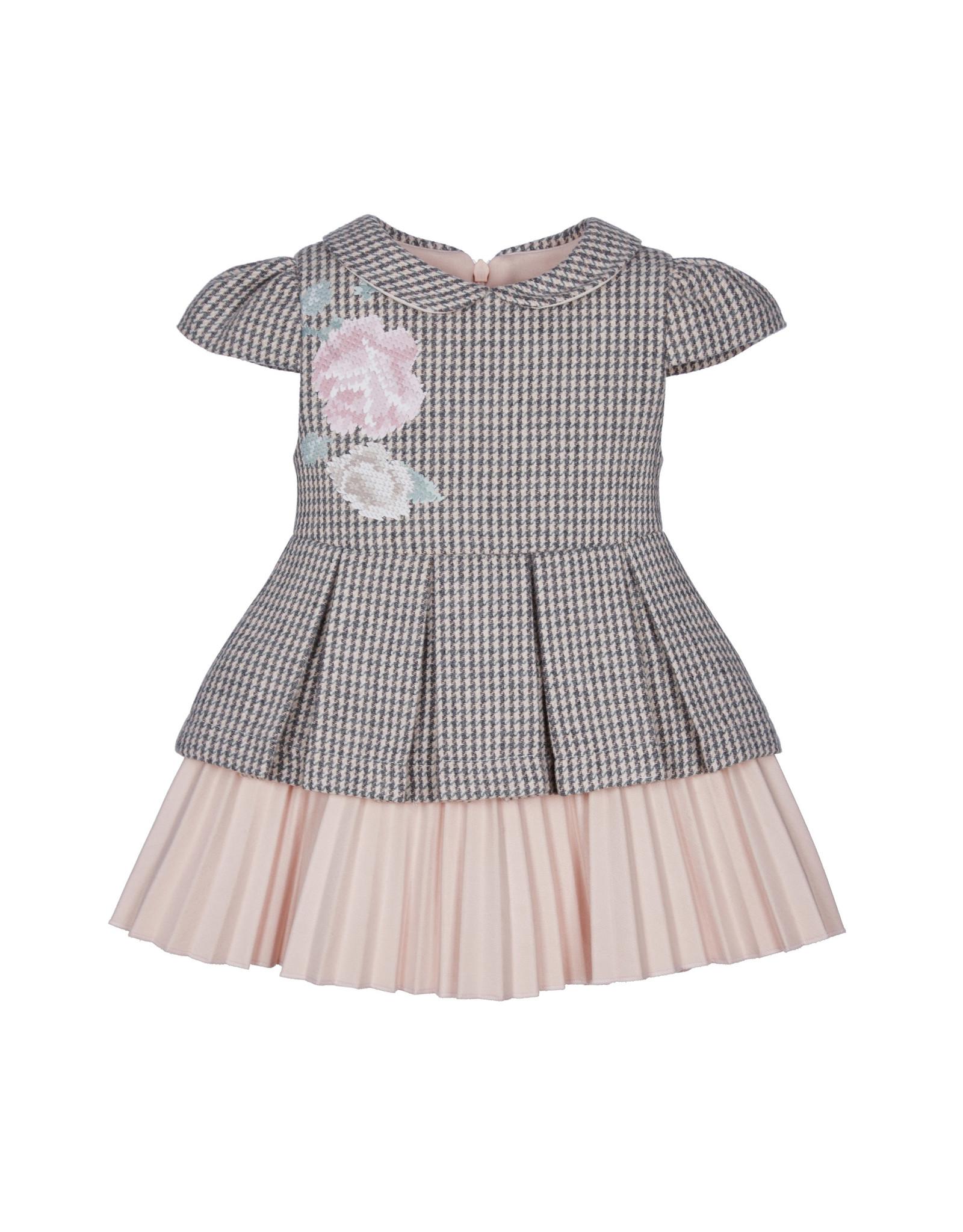 Lapin House Lapin House kleedje pied de poul grijs roze