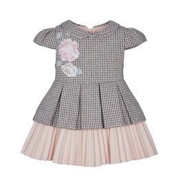 Lapin House Lapin House kleedje pied de poule grijs roze