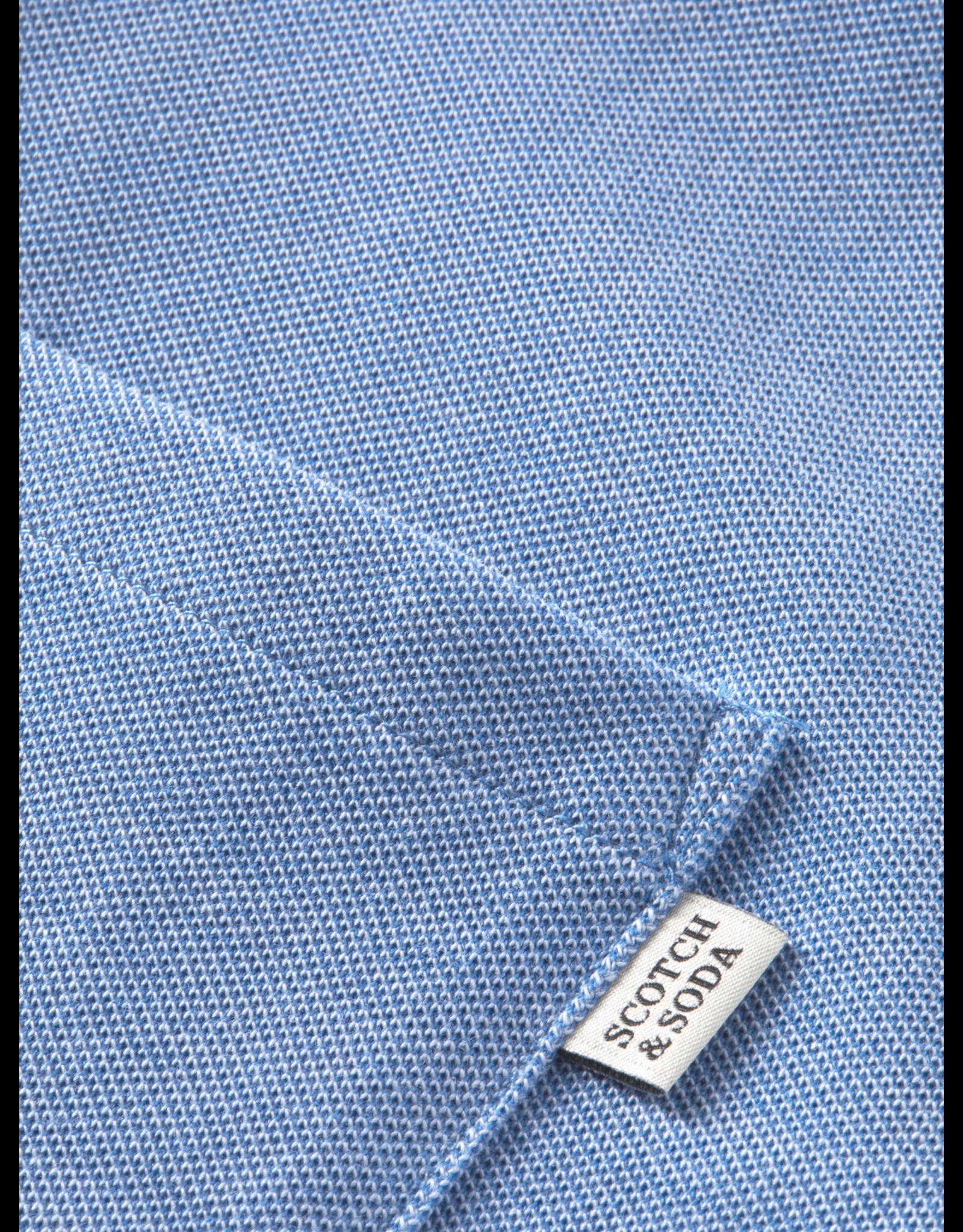 Scotch & Soda Hemd piqué blauw