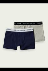 Scotch & Soda Boxershorts 2 pack grijs & blauw