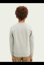 Scotch & Soda Sweater artwork grey melange