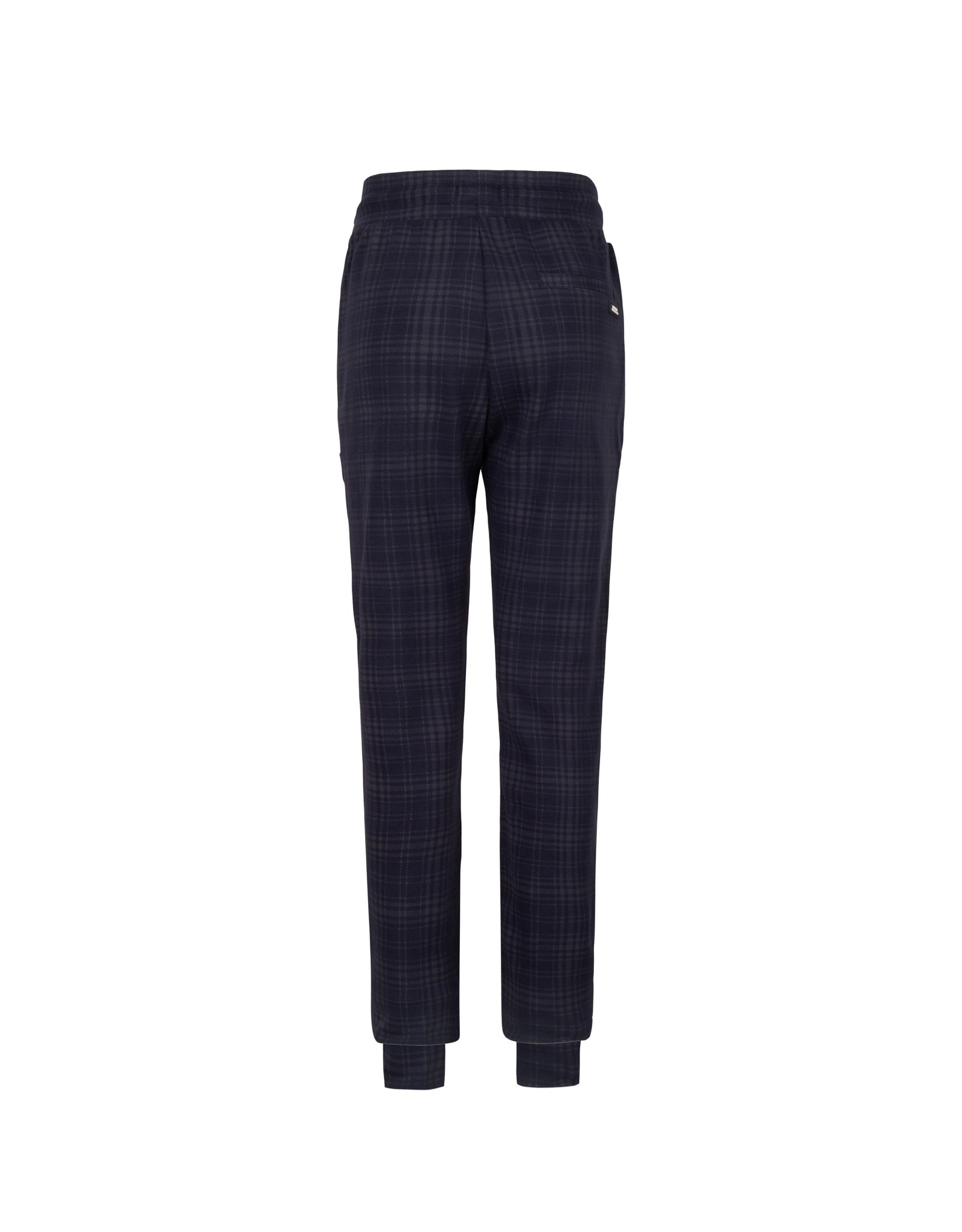 Indian Blue Jeans geruite joggingbroek marine