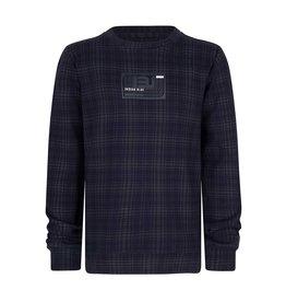 Indian Blue Jeans sweater geruit marine