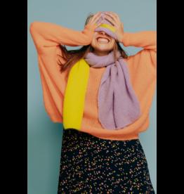 Les Elles sjaal Yelena paars geel