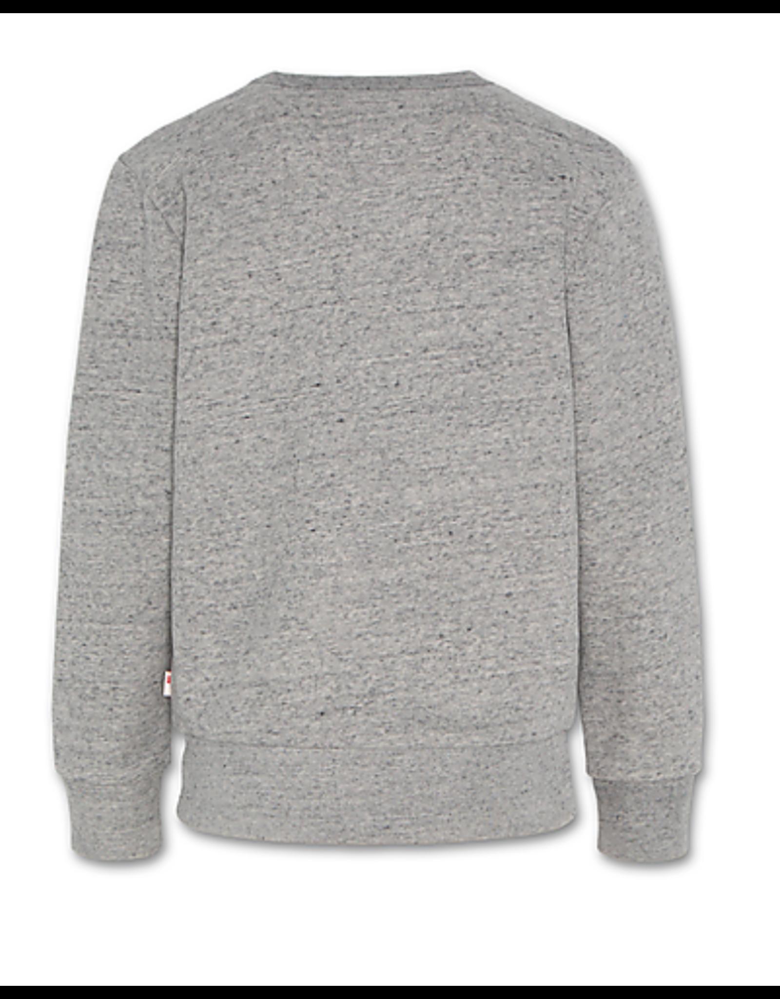 A076 sweater grijs logo
