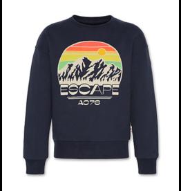 A076 oversized sweater escape night blue