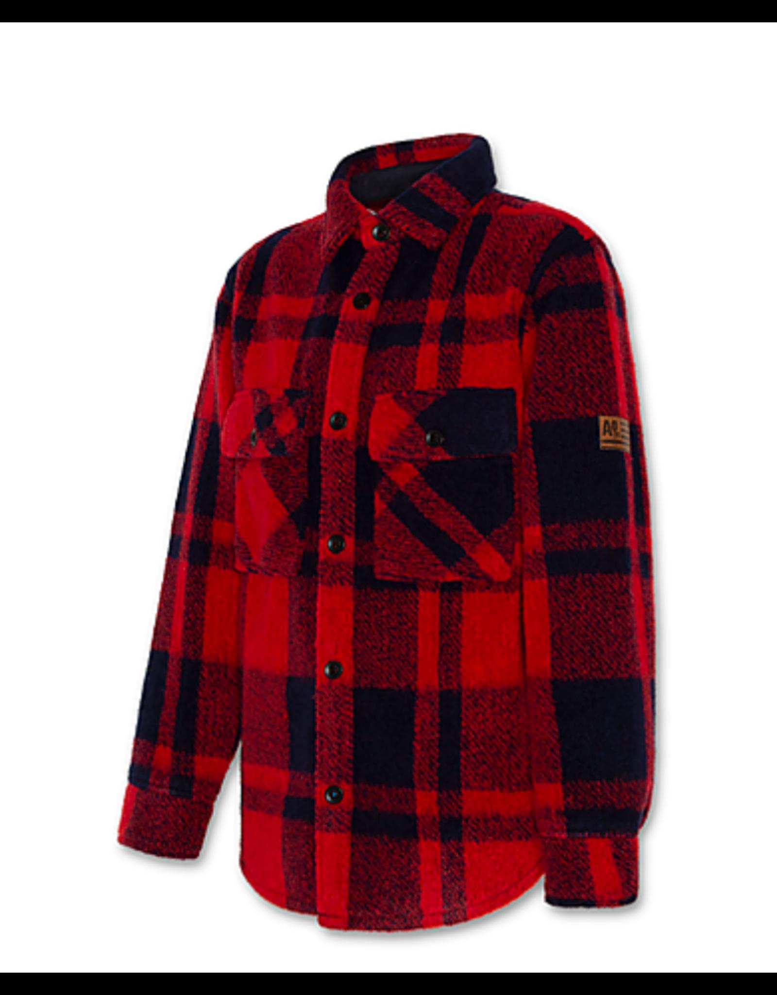 A076 jas Aker geruit rood