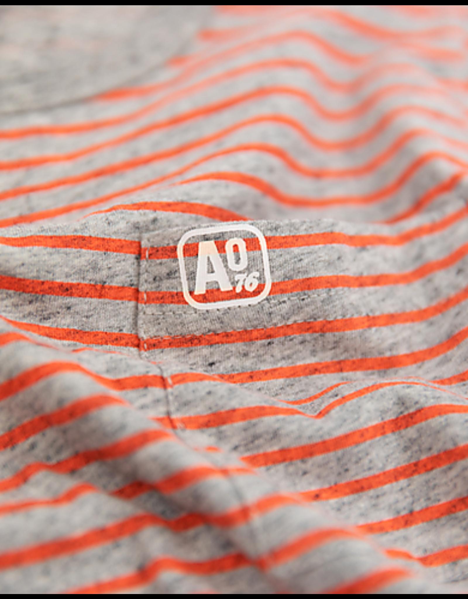 A076 AO76 T-shirt grijs gestreept