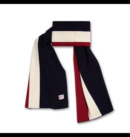A076 sjaal iglu gestreept navy bordeaux