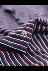 A076 t-shirt ruffle stripe navy