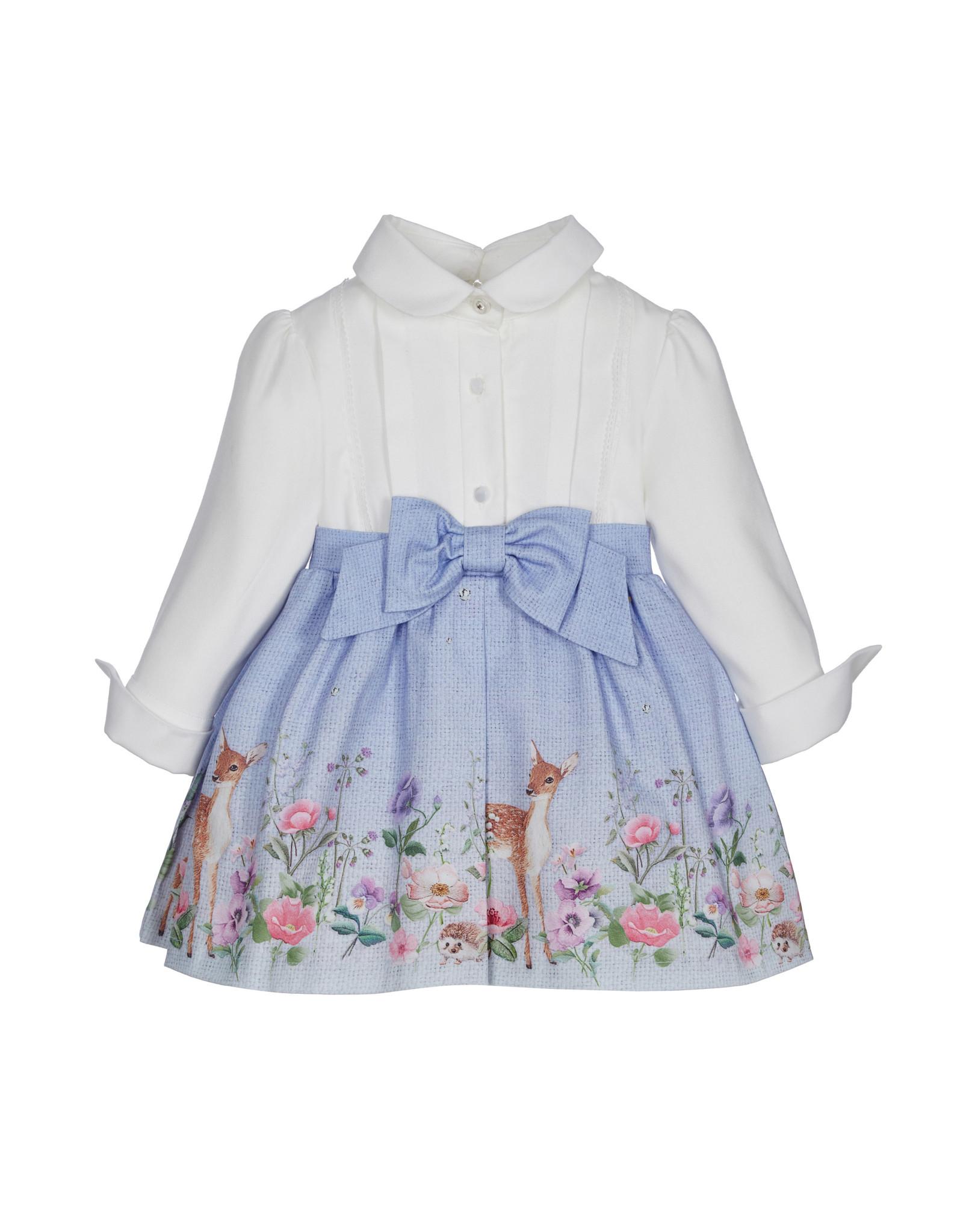 Lapin House jurk lavendel wit