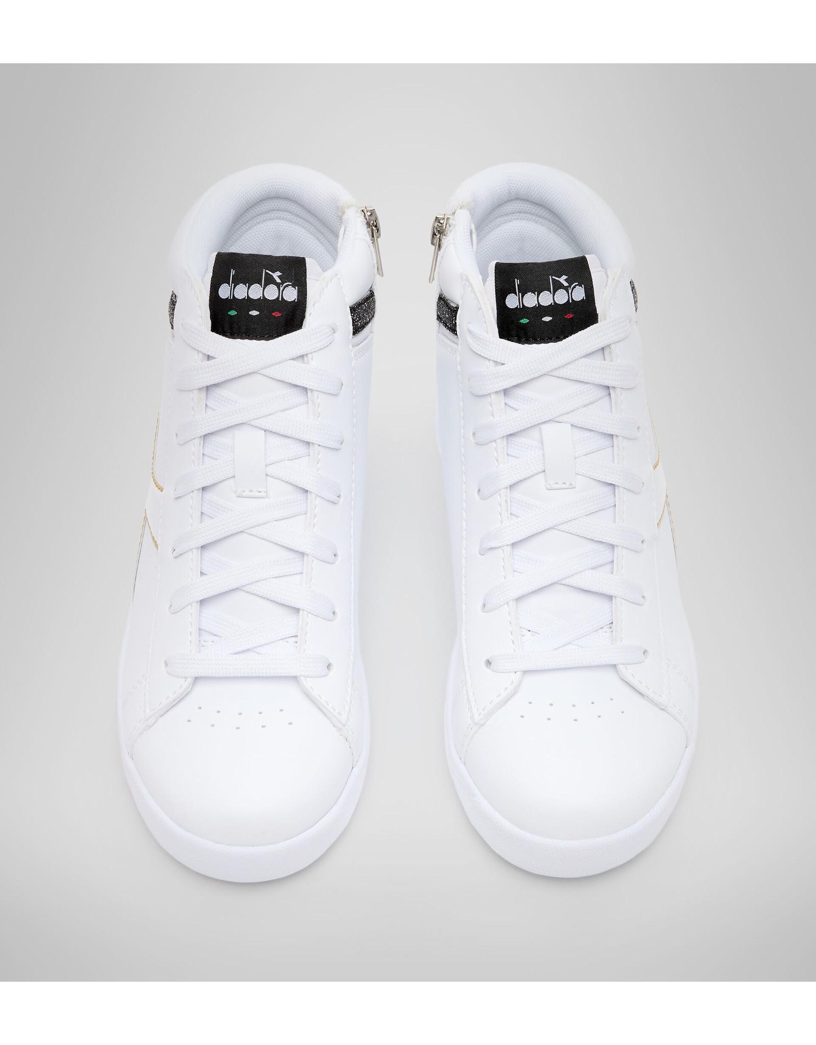 Diadora high top sneaker wit zwart goud