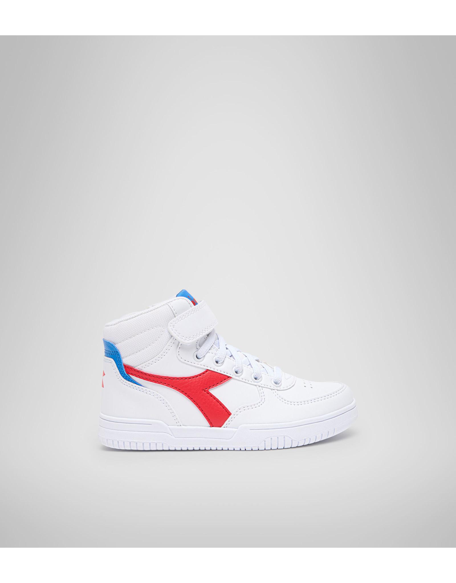 Diadora high top sneaker wit tomato rood