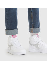 Diadora high top sneaker wit zilver
