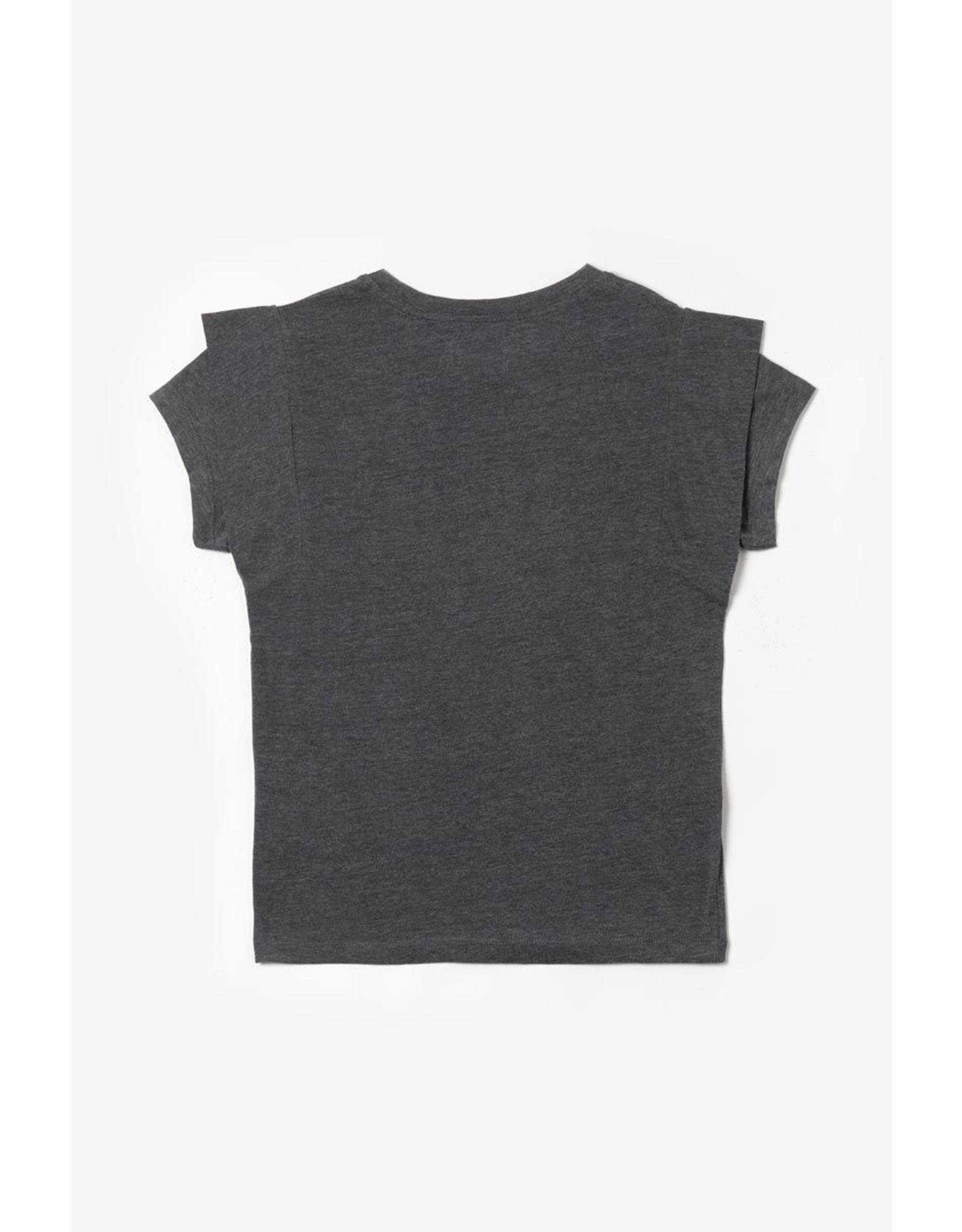Le temps des cérises T-shirt Graciegi antraciet goud