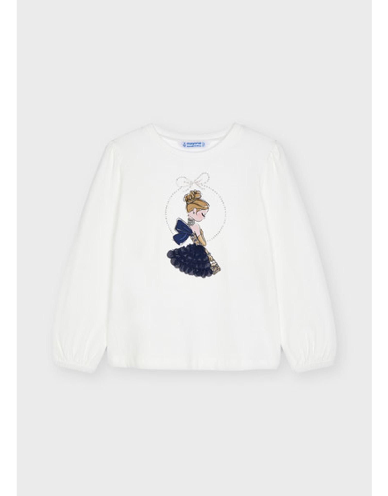 Mayoral T-shirt meisje ecru