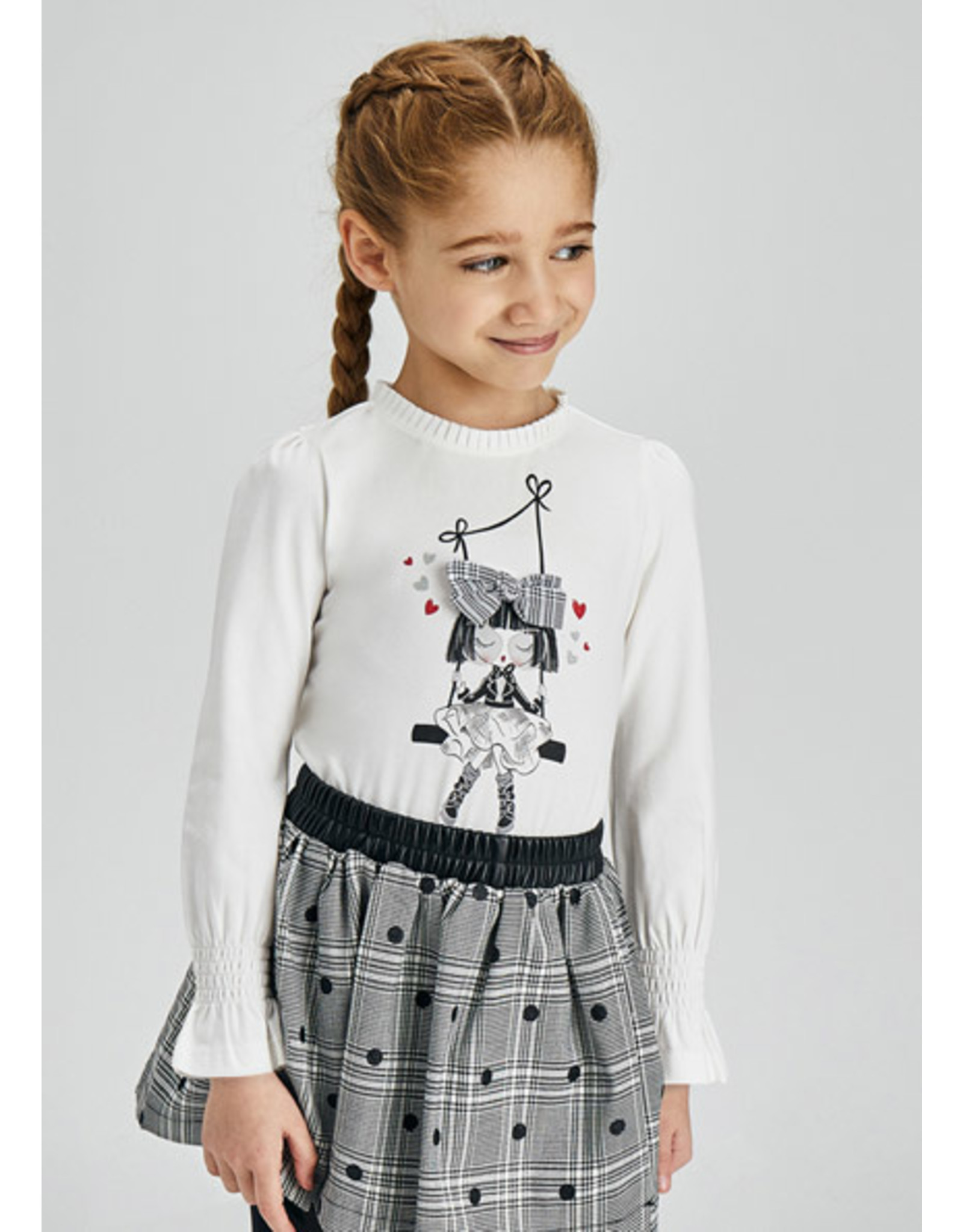 Mayoral T-shirt doll wit