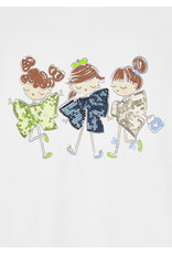 Mayoral T-shirt 3 meisjes ecru