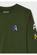 Mayoral T-shirt letters groen