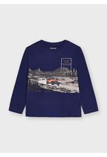 Mayoral T-shirt jeep donkerblauw