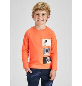 Mayoral T-shirt moon oranje