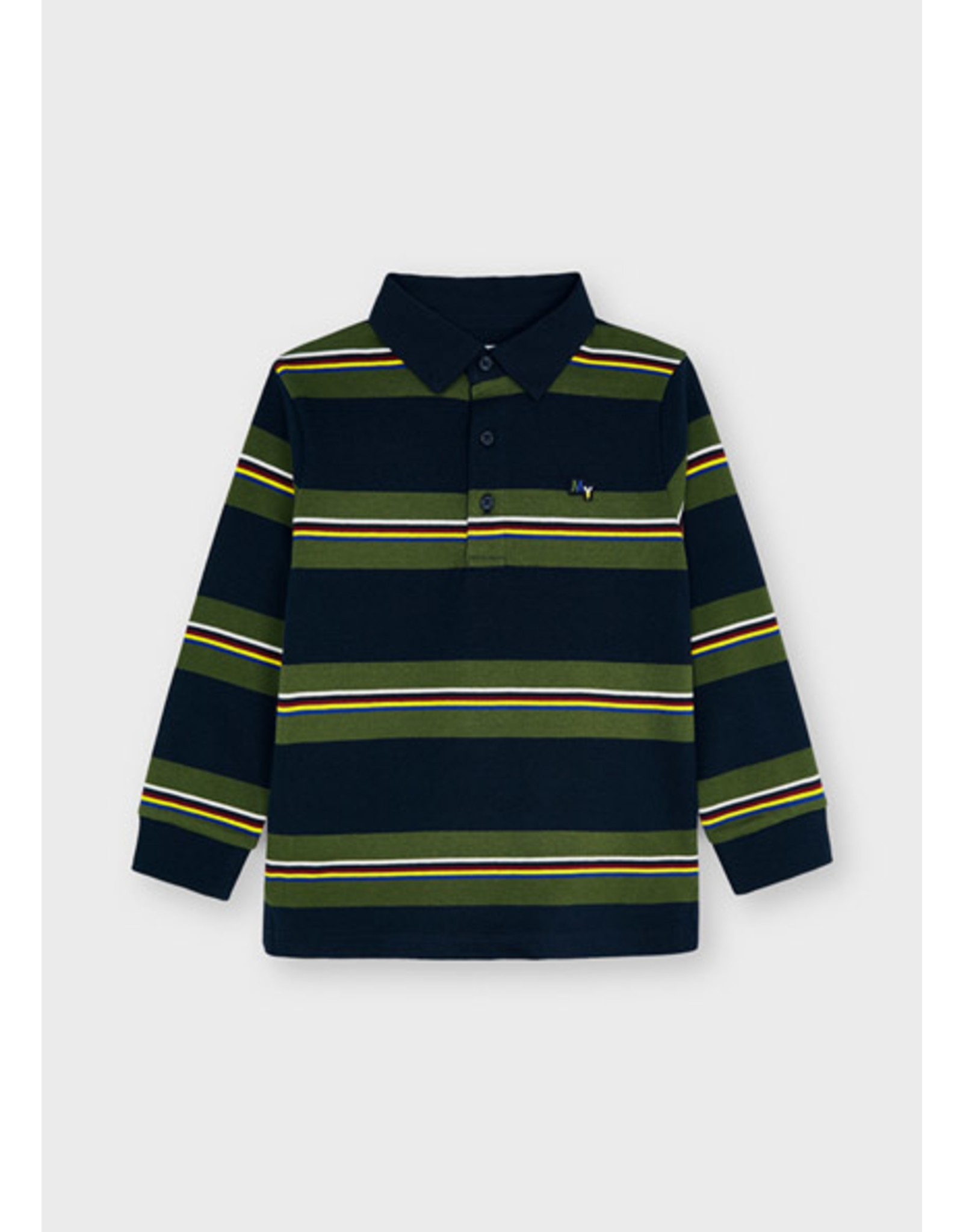 Mayoral Polo stripes denim