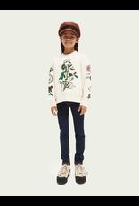 Scotch & Soda Crew neck sweater artwork off-white