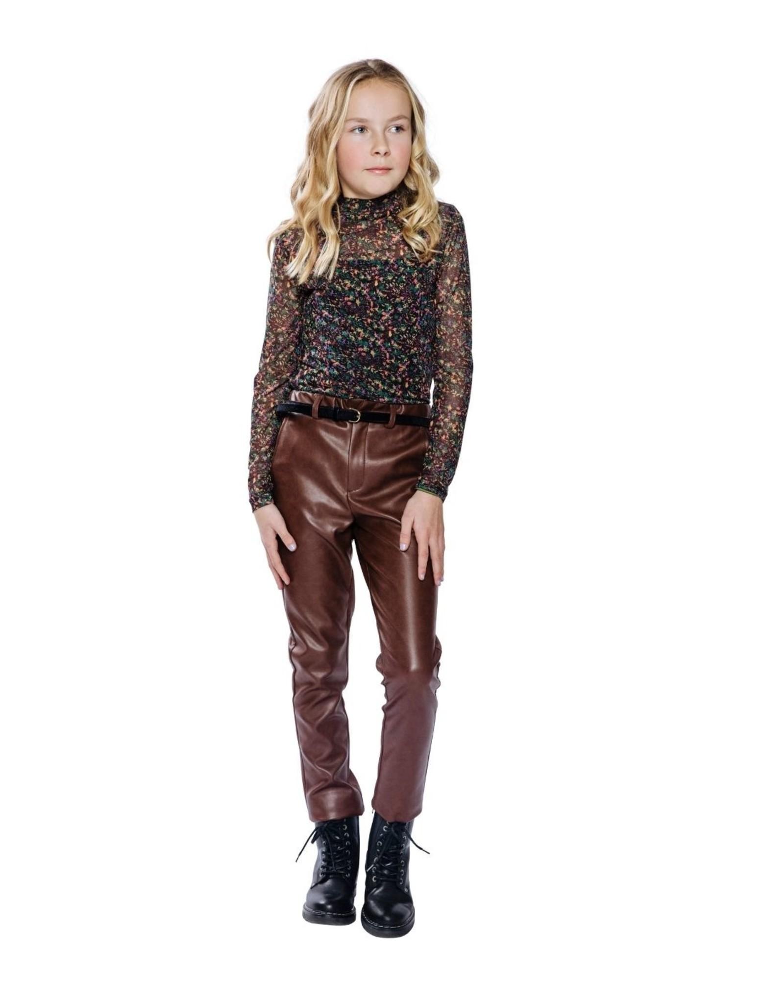 Indian Blue Jeans eco leder broek bruin