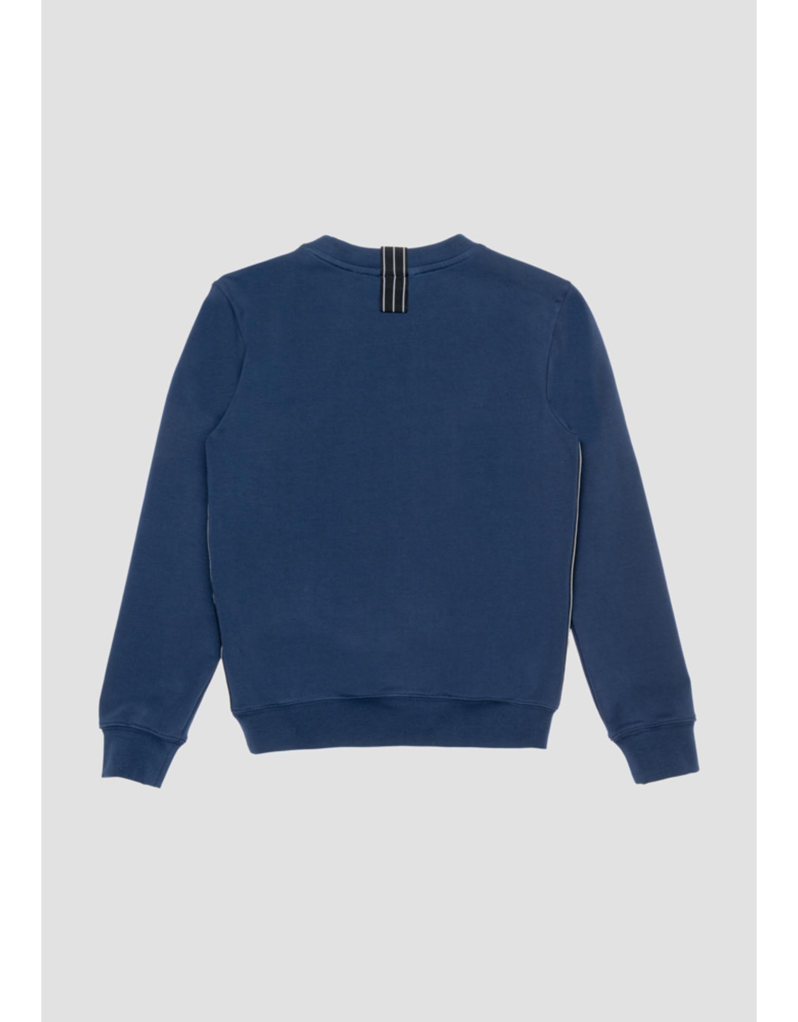Antony Morato Sweater rubber logo donker blauw