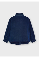 Mayoral Jeansblouse parels donkerblauw
