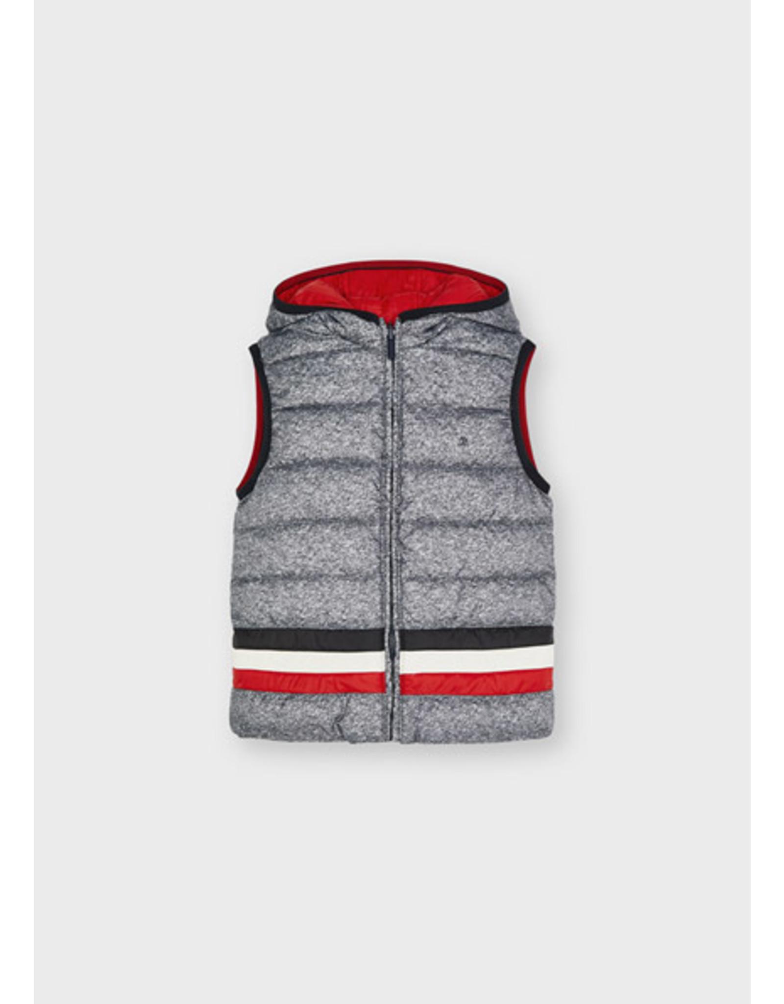 Mayoral omkeerbare bodywarmer grijs-rood
