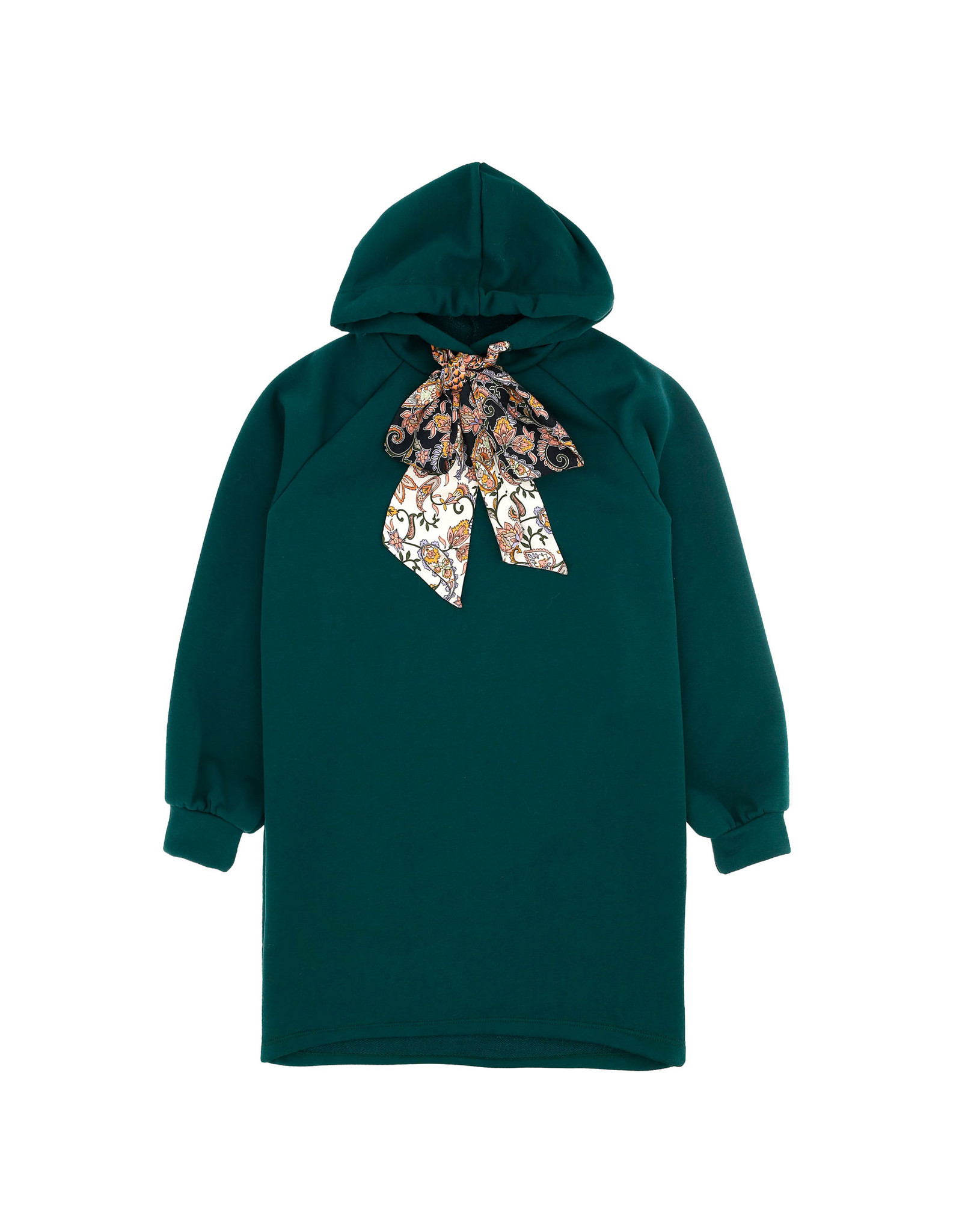 Dixie Sweaterkleed donkergroen strik