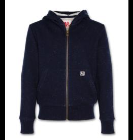 A076 AO76 hoodie met rits navy