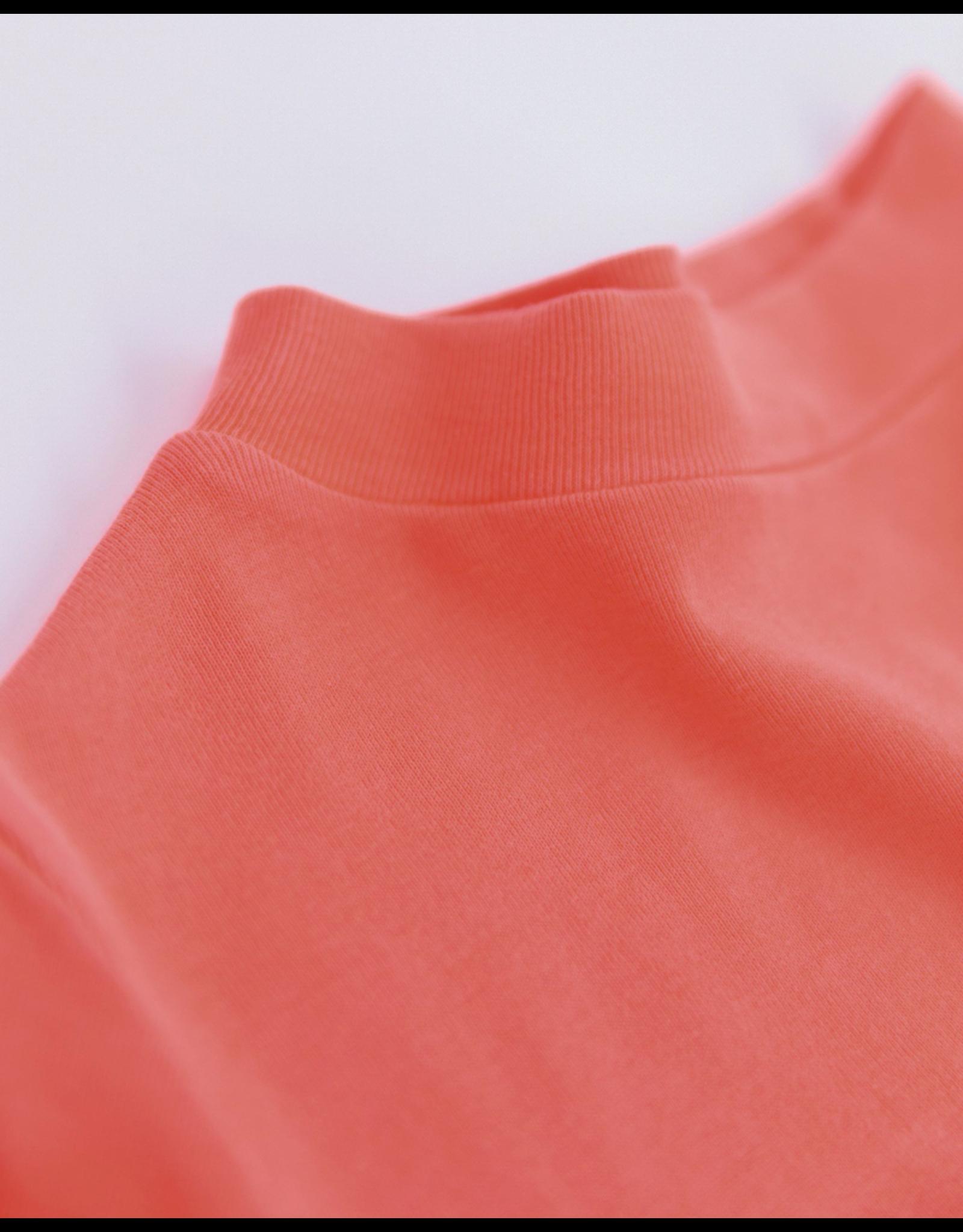 A076 AO76 T-shirt turtle neck fluokoraal