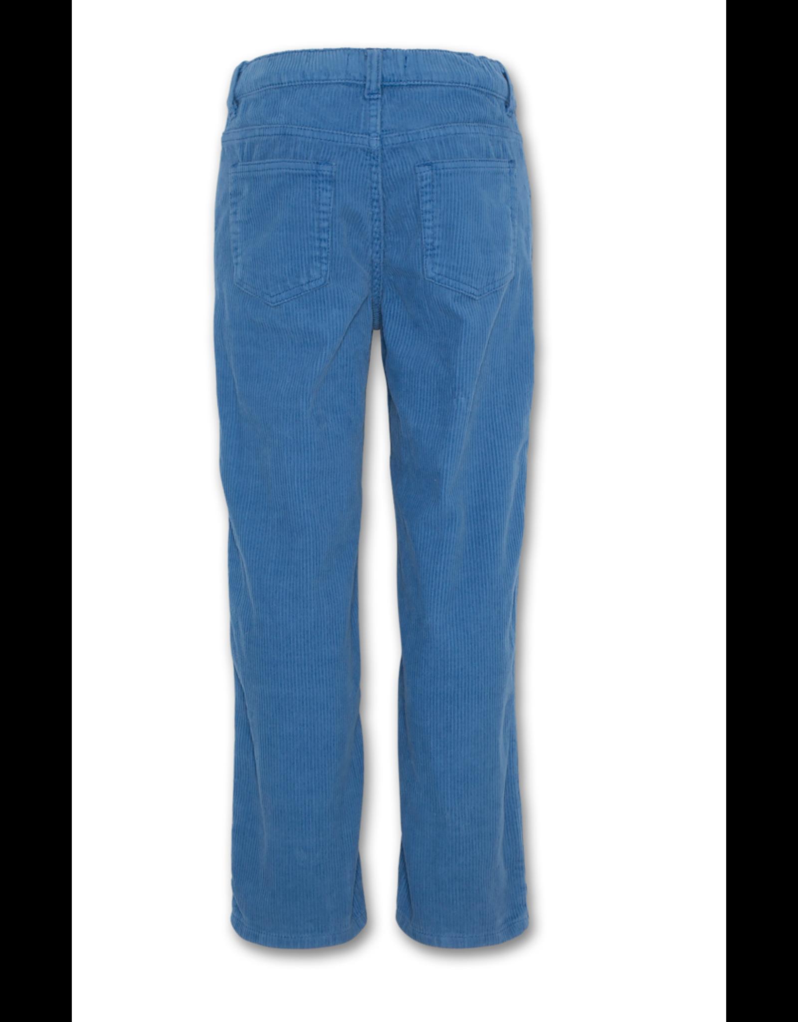 A076 AO76 broek corduroy lichtblauw