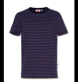 A076 t-shirt c-neck stripe navy