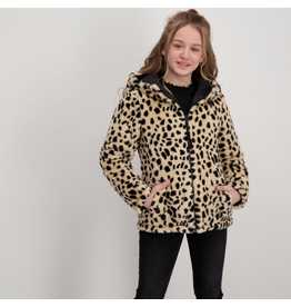 Cars Jas Jixs omkeerbaar zwart-leopard