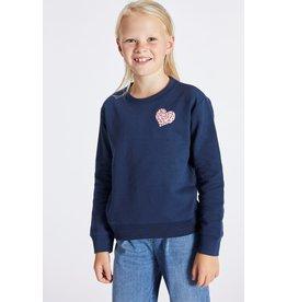 Blue Bay donkerblauwe sweater hartje
