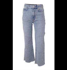 HOUNd Wide denim pants raw bottom edge lichtblauw