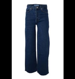HOUNd Wide denim pants raw bottom edge medium blue used