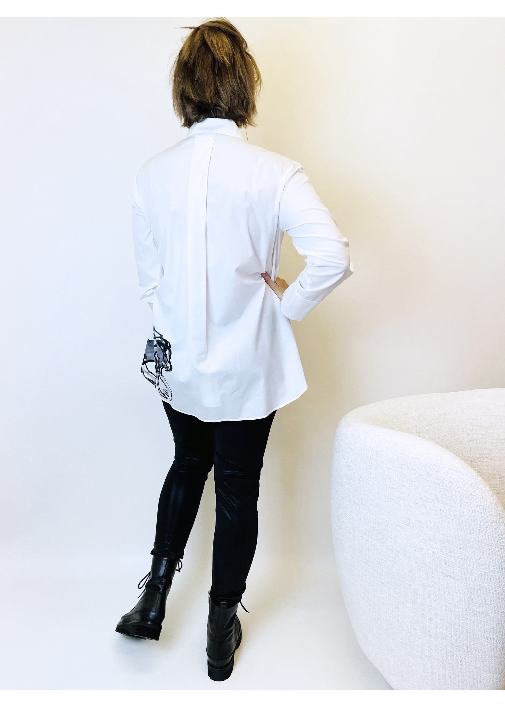 Blouse RC 51.02 W80 white and black