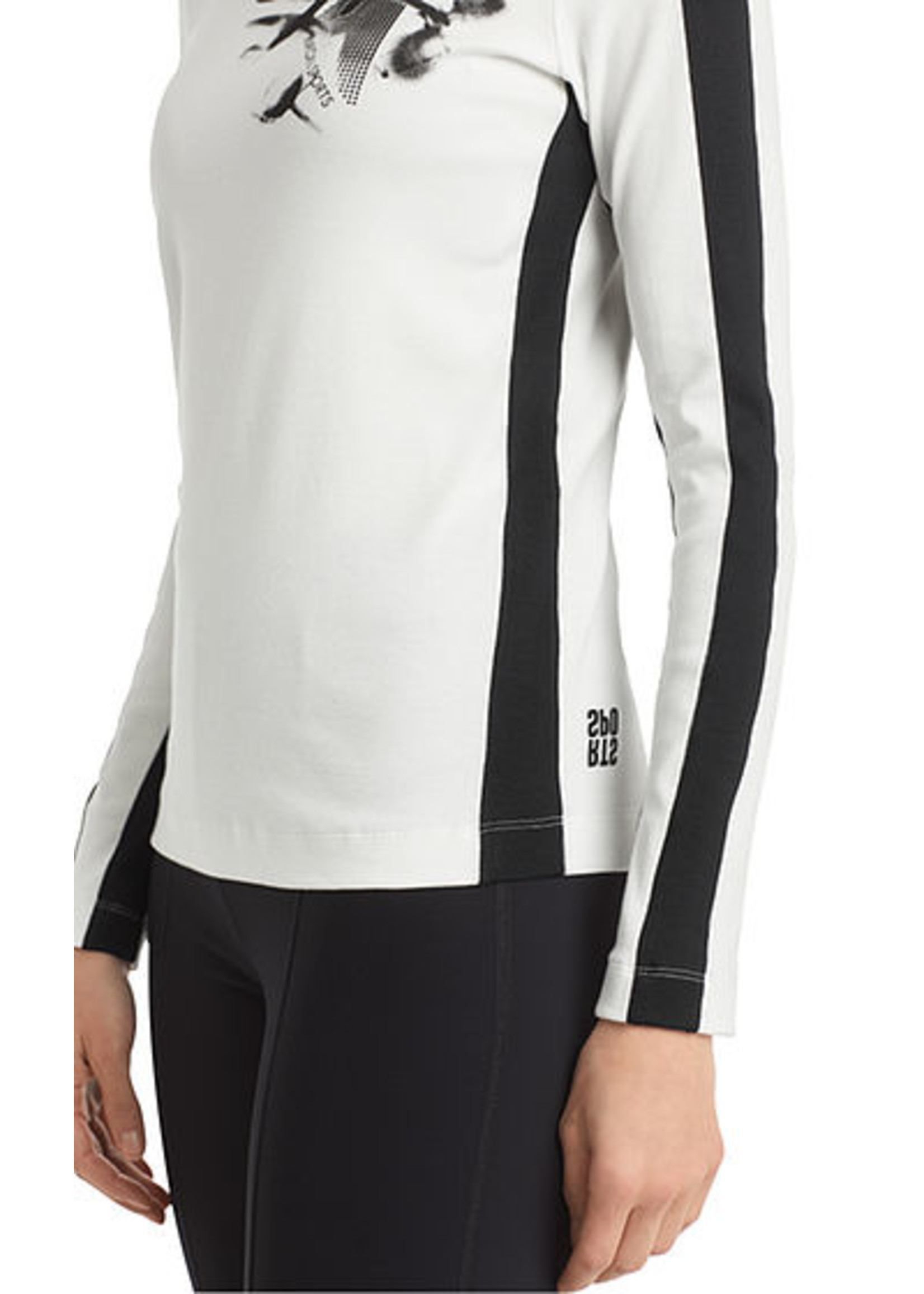 Marccain Sports T-shirt RS 48.57 J33 white and black