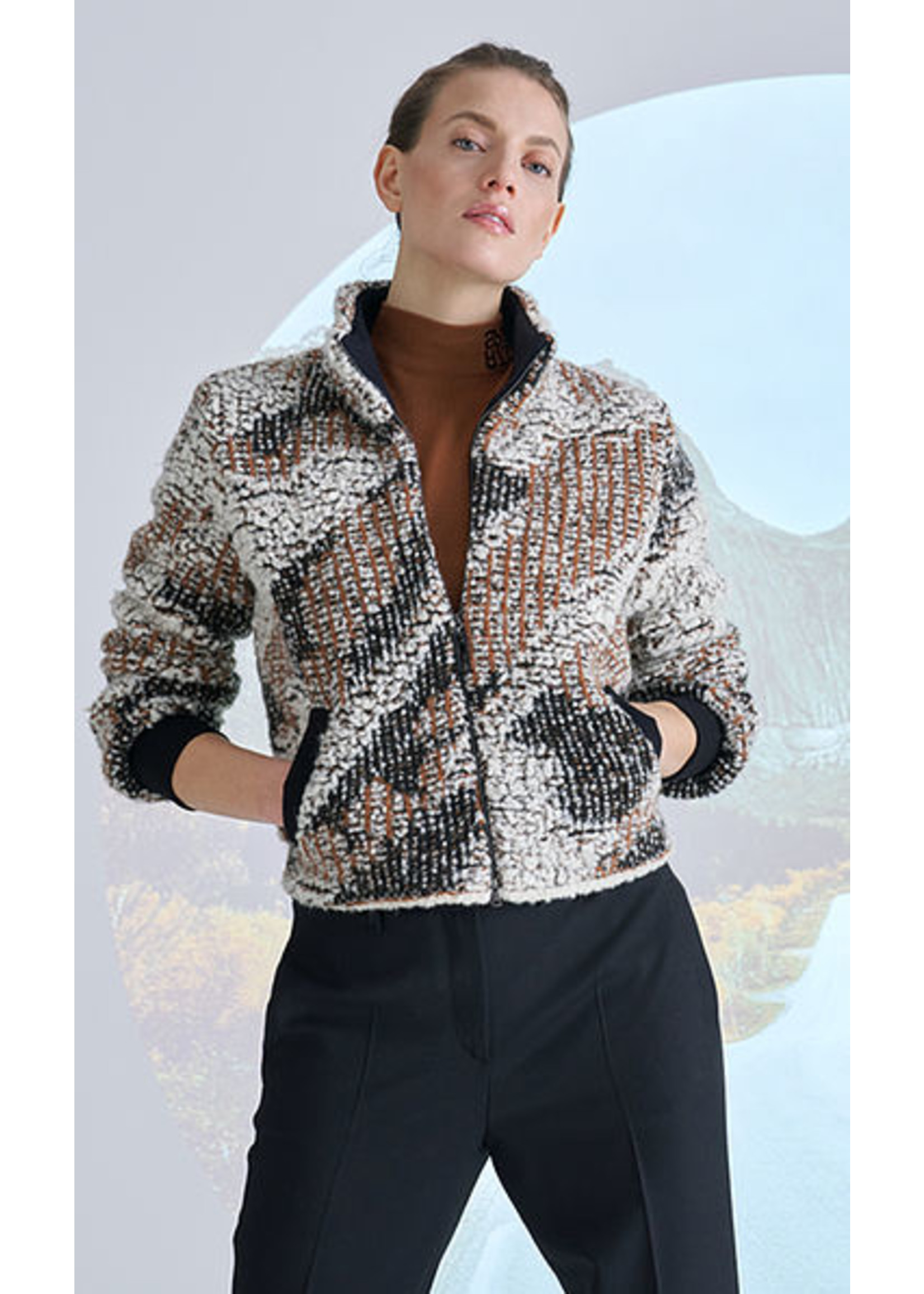 Marccain Sports Top RS 61.08 M80 sienna
